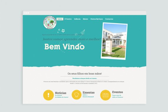 Website – Centro Social Paroquial do Bárrio