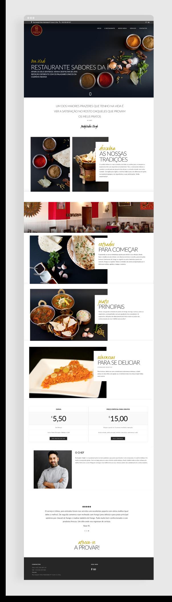 site sabores india